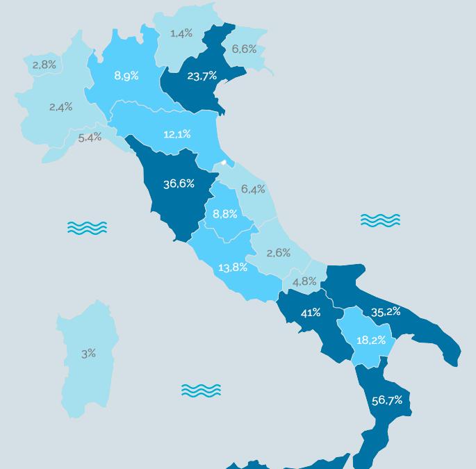 Fibra Ottica: le regioni del Sud le più coperte!